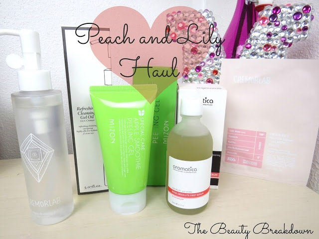 peach and lily haul