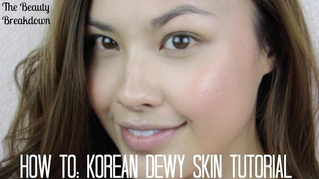 korean dewy skin tutorial