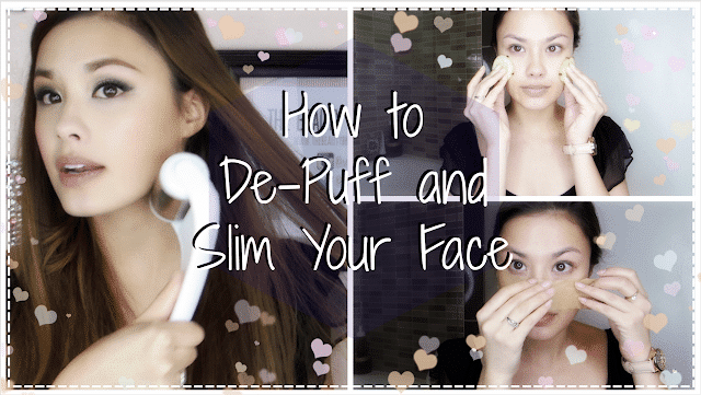depuff, de-puff, slim, face, how to slim your face