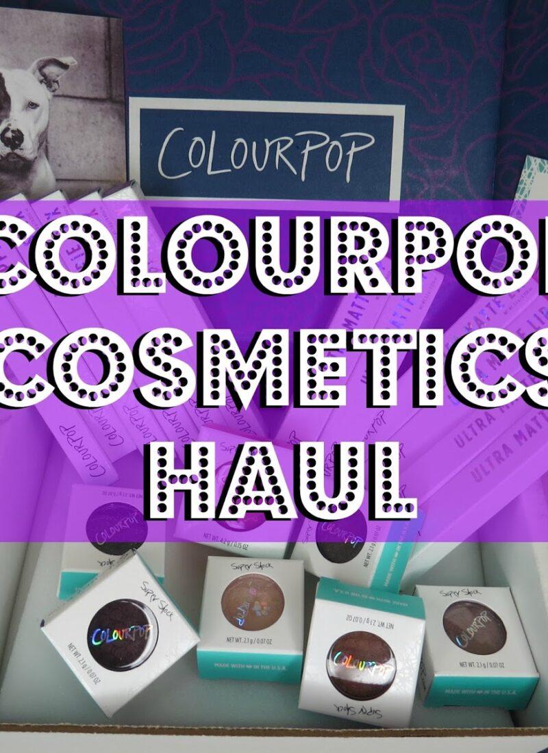 Colourpop Cosmetics Eyeshadow, Lippie Stix, & Ultra Matte Lip Haul + Swatches!