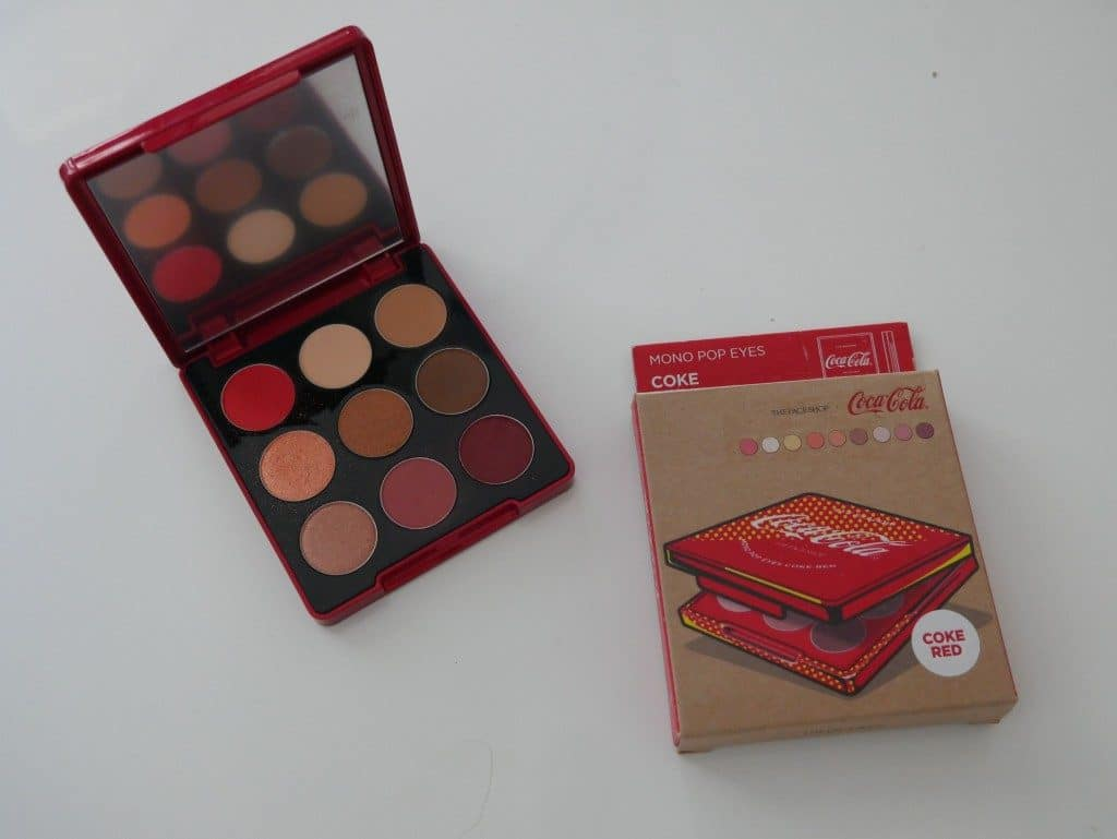 the face shop coca cola eyeshadow palette