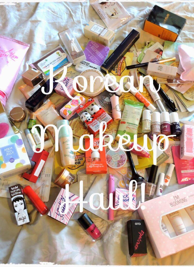 massive korean makeup haul
