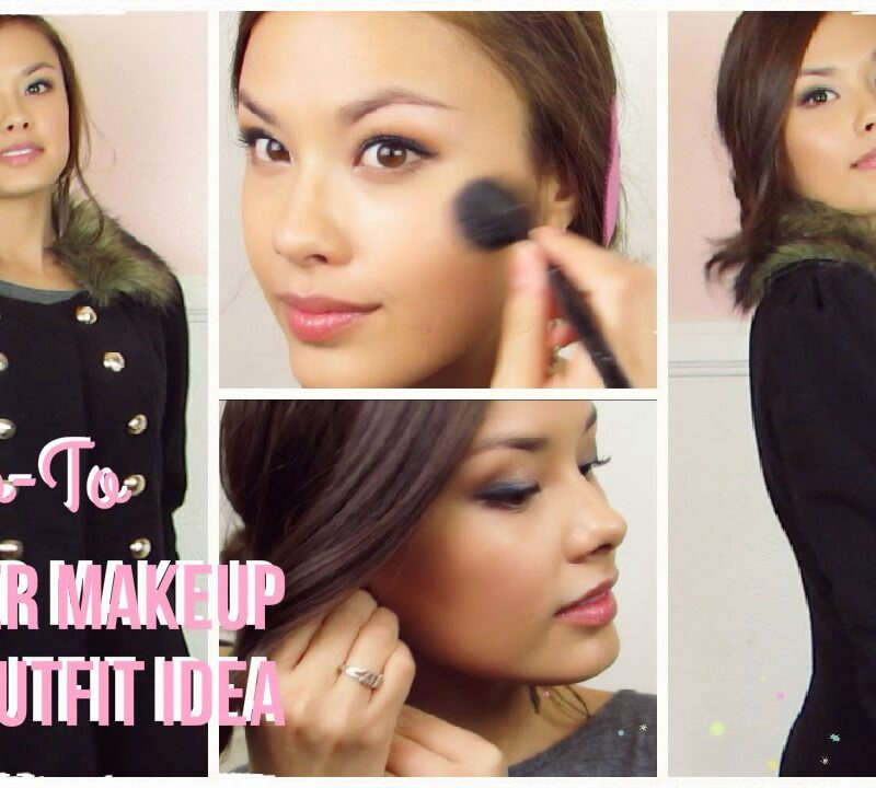 winter makeup outfit